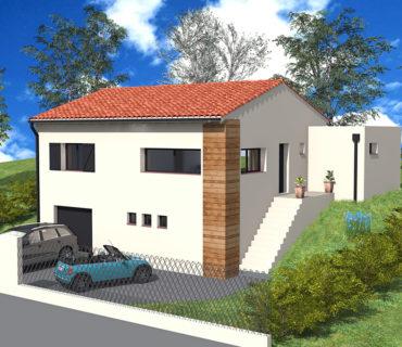 Projet de maison sur terrain en pente